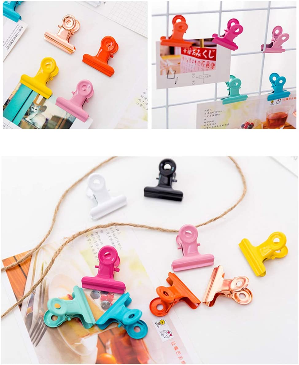 YEAHIBABY 10 St/ück Candy Farbe Metall Scharnier Clips Metall Bulldog Clips Scharnier Clips Datei Binder Clips