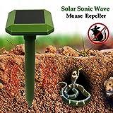 Teekini GreatHouse Solar Power Sonic Wave Mouse Snake Repeller Outdoor Garden Animal Expeller