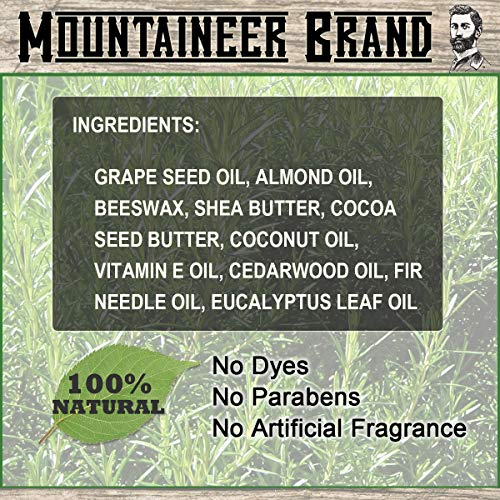 Magic Beard Balm Leave-in Conditioner by Mountaineer Band | Natural Oils, Shea Butter, Beeswax Nourishing Ingredients | 2-oz (WV Timber Scent)
