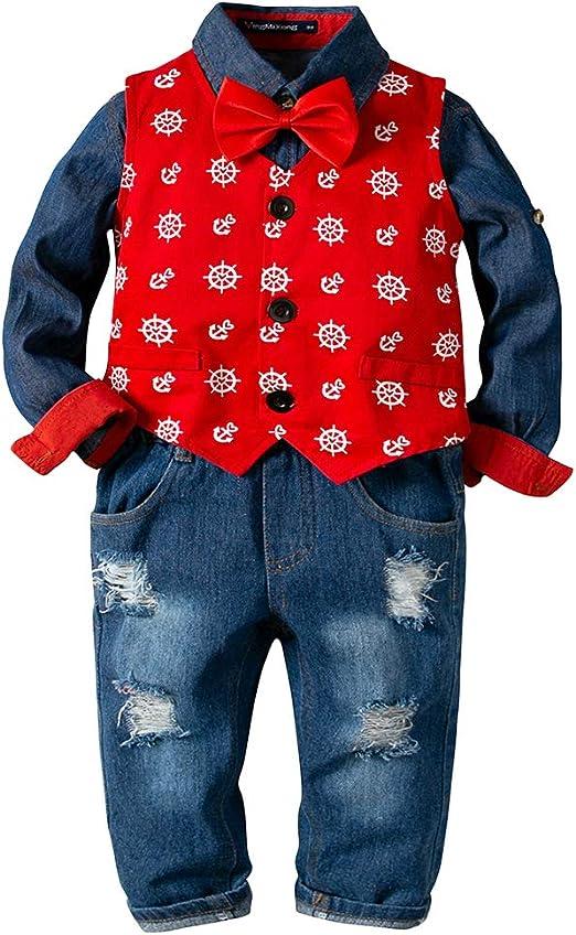 Suncaya Conjunto de Ropa de Camisa + Pantalones con Tirantes + ...