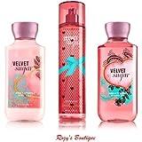 Bath & Body Works Velvet Sugar Gift Set - All New Daily Trio (Full-Sizes)