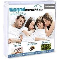 Waterproof Mattress Protector Premium Mattress Encasement - Comfortable Breathable Hypoallergenic, Protects Against Dust…