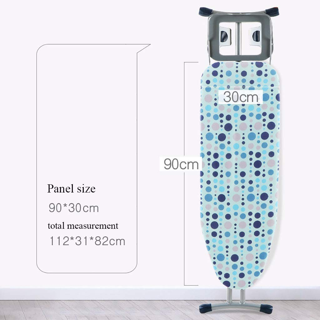 TT&CC Heavy Duty Iron Board, Extra Stable Legs Scorch Resistant Adjustable Height Steam Generator Ironing Board Folding Ironing Board-A L112xW31xH82cm(44x12x32inch)