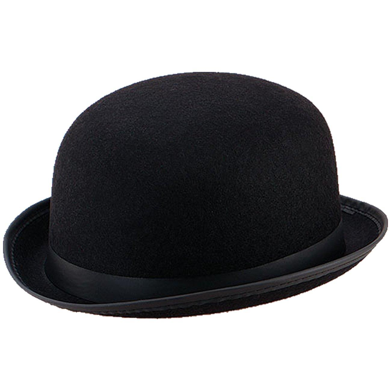 Spassprofi Melone Schwarzer Bowler Hut für Hochzeiten Reiterhut Butlerkostüme Karnevalshut