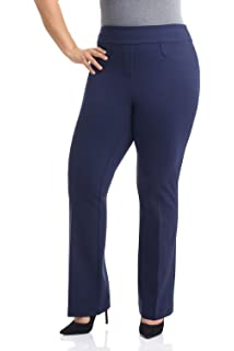 7a67d0865e8 Rekucci Curvy Woman Secret Figure Knit Bootcut Plus Size Pant w Tummy  Control