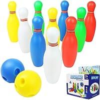 Birilli Bowling Set Colorato Palla da Bowling Giocattoli Gioco di Sport per 3 Anni in su (12 Pezzi )