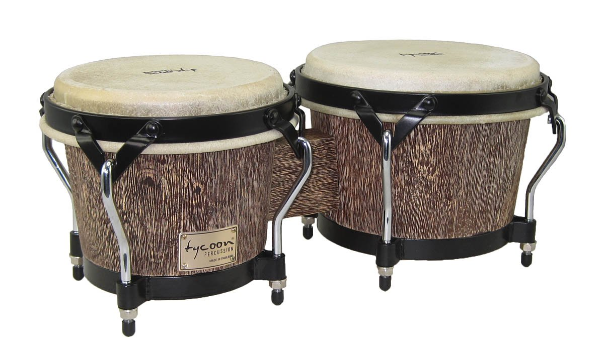 Tycoon Percussion STBS-B IP 7 and 8-1/2 Inches Supremo Series Bongos, Island Palm Finish
