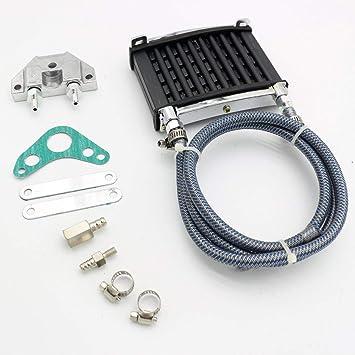 Radiador de enfriamiento del refrigerador de aceite universal del motor para la motocicleta de la bici de la suciedad del rastro de 125cc 140 150cc: ...