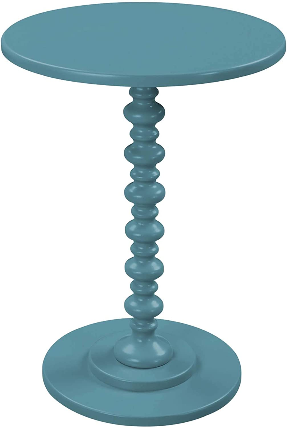 Convenience Concepts Palm Beach Spindle Table, Teal Blue