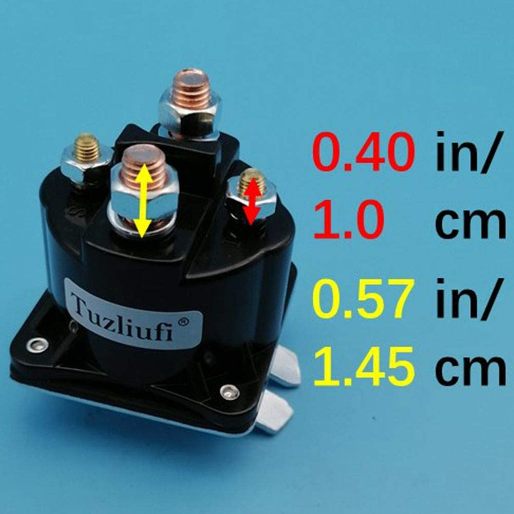 Tuzliufi Replace Starter Solenoid Relay Switch 12V Copper Contact Max 150A-200A 4 Terminals New Z428