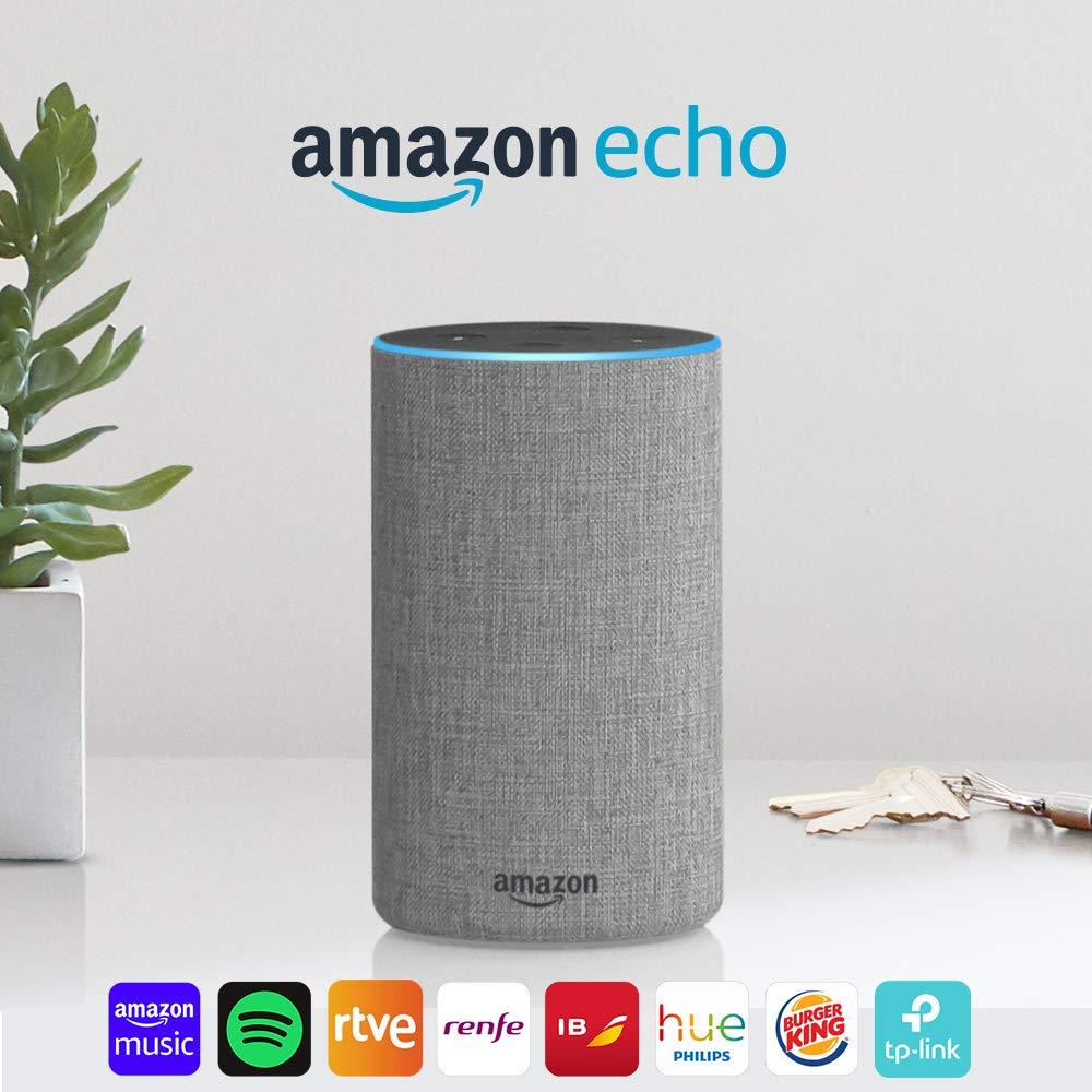 Altavoz inteligente Amazon Echo (2.ª generación) con Alexa por 59,99€ ¡¡40% de descuento!!