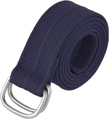 Atractivo y duradero para hombre cinturón de algodón con hebilla ...
