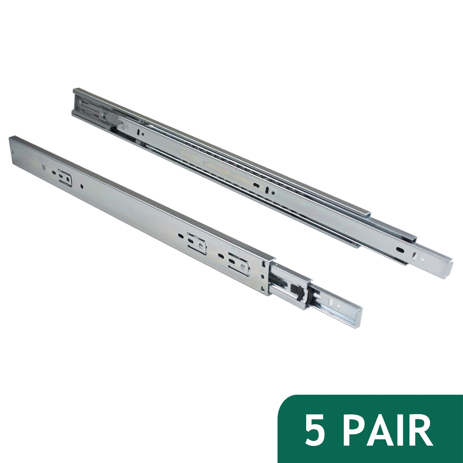 Probrico 100 LB Capacity Full Extension Soft/Self Close Ball Bearing Side Mount Drawer Slides 22 Inch 5 Pair