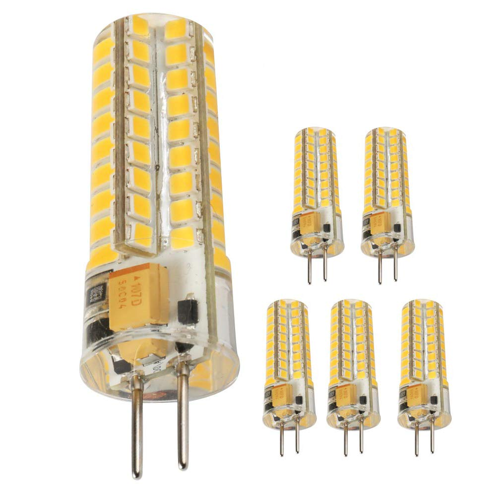 Ukey U GY6.35 LED Bulbs,5W Bi-pin Base AC/DC 12V 2700K Warm White, G6.35/GY6.35 Base JCD LED Halogen Incandescent 50W Replacement Bulb 5Pack (5), by Ukey U