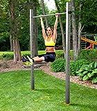 Einfach-Turnreck TOLYMP® Starterhorn eine Klimmzugstange/Turnstange/Turnreck für Outdoor-Fitness, hochwertig aus Edelstahl, für den Garten und die ganze Familie