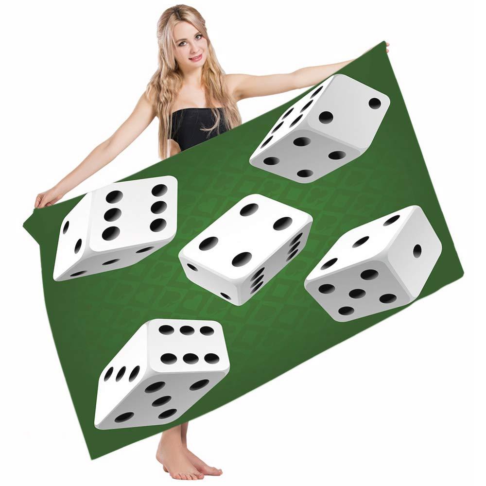 Amazon.com: Mugod Beach Towel Bath Towels Modern Casino ...