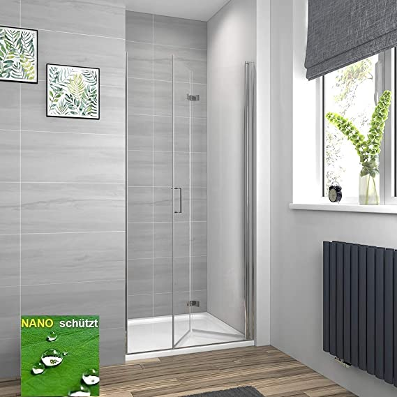 Meykoe cabinas de Ducha Ducha Puerta Mampara Puerta Plegable Ducha Pared: Amazon.es: Juguetes y juegos