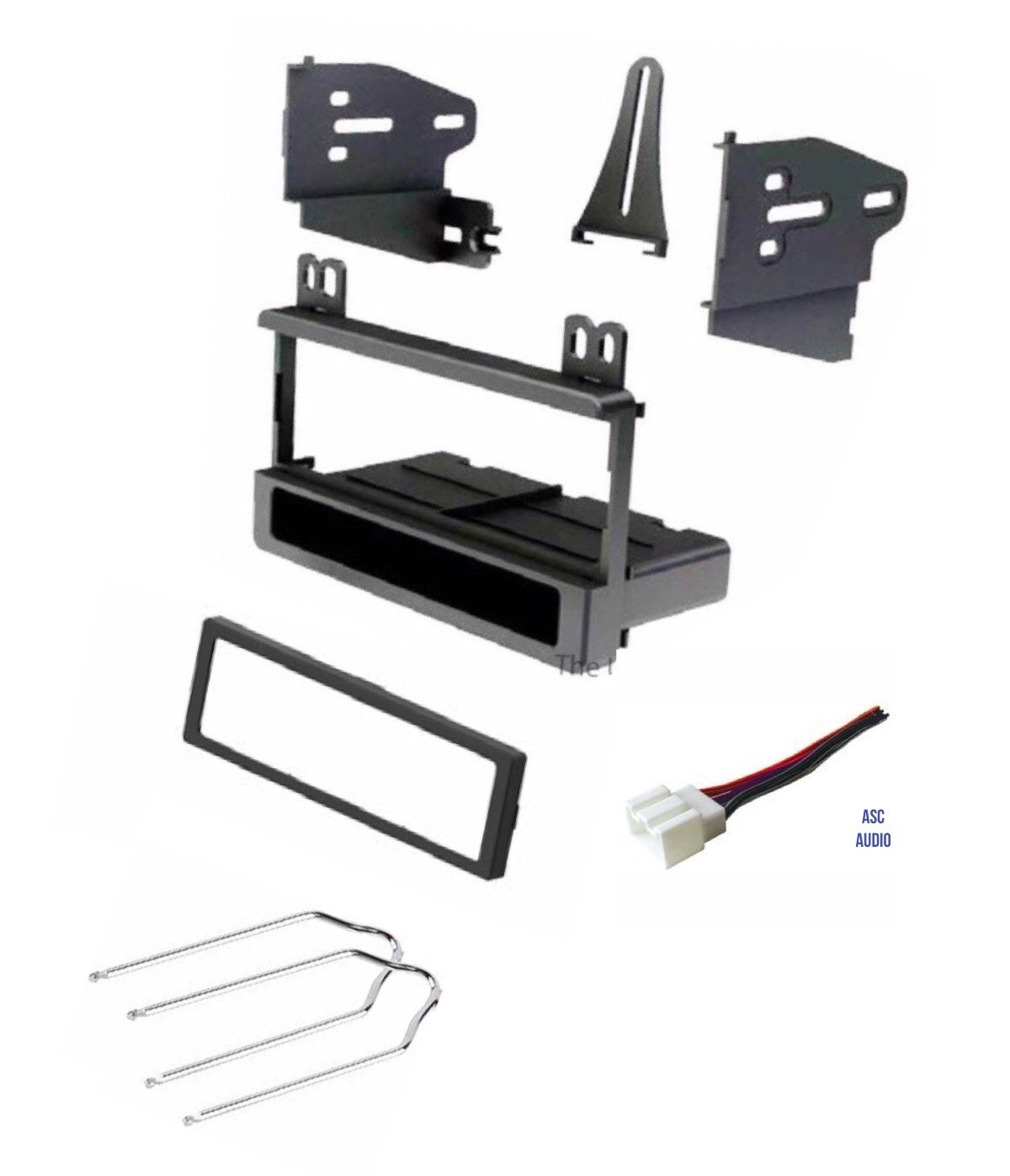 ASC Car Stereo Dash Kit, Wire Harness, and Radio Tool for Installing a Single Din Radio for some Ford Vehicles - Compatible Vehicles Listed Below