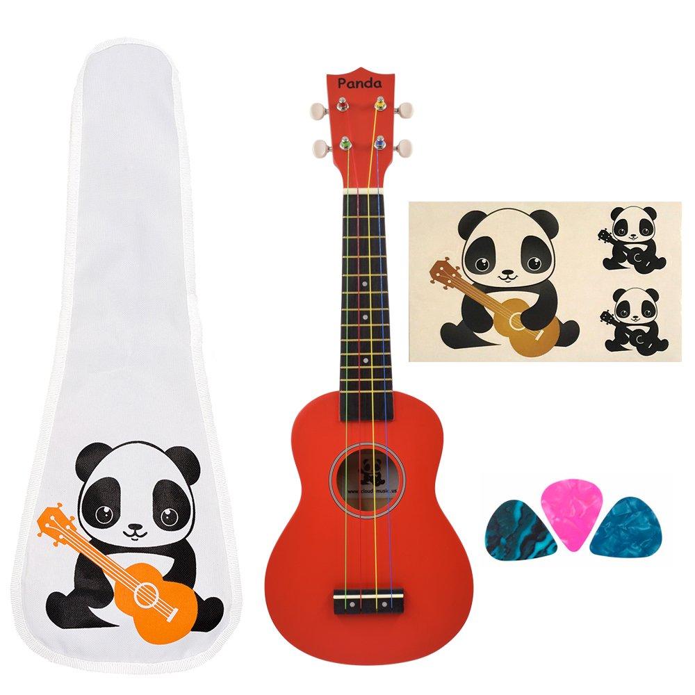 CLOUDMUSIC Ukulele Soprano Pineapple Ukulele Kit With Pineapple Ukulele Gig Bag Ukulele Picks Aquila Educational Strings Color Strings CM-PAS