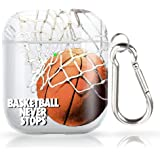 SYtrad AirPods Case Basketball net Protective Hard AirPods 2&1 Case Cover Portable & Shockproof with Keychain Compatible with