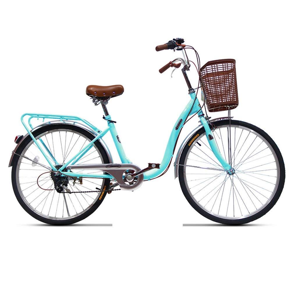 折りたたみ自転車 自転車折りたたみ自転車ユニセックス24インチ可変速ポータブル自転車街の光ユニバーサル自転車 (Color : Blue, Size : 127*22*74cm) 127*22*74cm Blue B07QFM475K