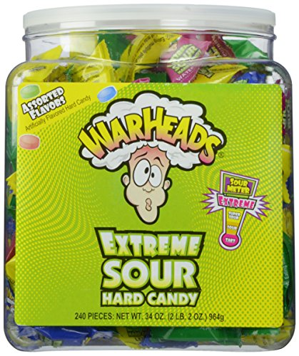 Warheads Extreme Sour Hard Candy (Pack of 240) ()