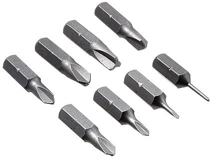 Silverhill Tools atkyb Triwing Bit Set; 8 puntas; Tamaños Y000 – Y5