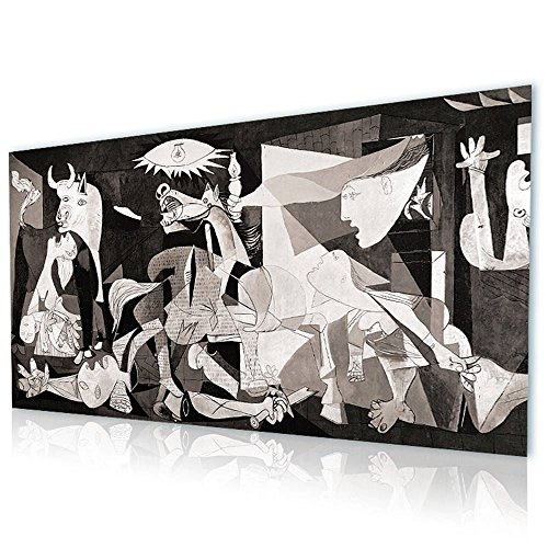 Alonline Art - Guernica Pablo Picasso PRINT On CANVAS (Synthetic, UNFRAMED Unmounted) 45