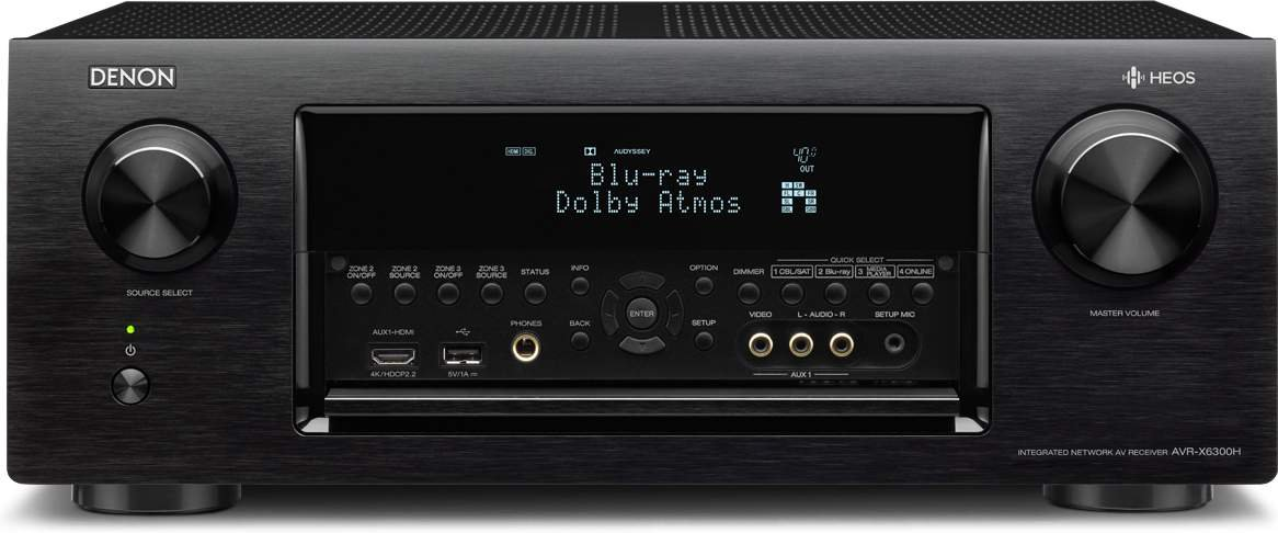 Denon avr-x6300h sintoamplificatore multicanal para aplicaciones a/v con complemento Heos, Negro: Amazon.es: Electrónica