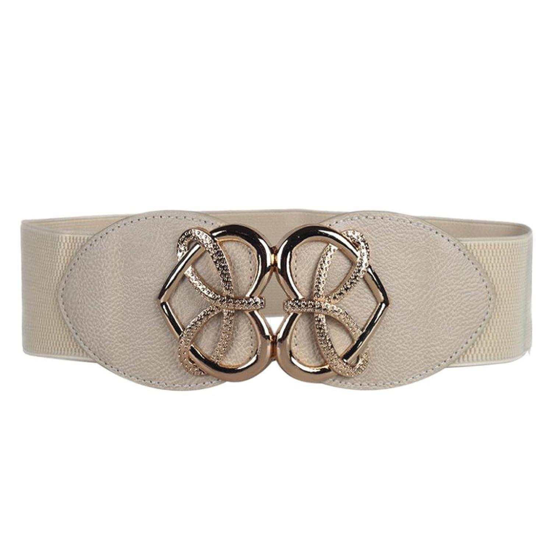 Yoyorule Retro Fashion Decorative Elastic Waistband Elastic Wide Belt