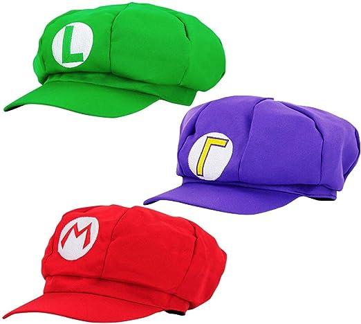 thematys Gorra Super Mario Luigi Waluigi - Juego de Disfraces para ...