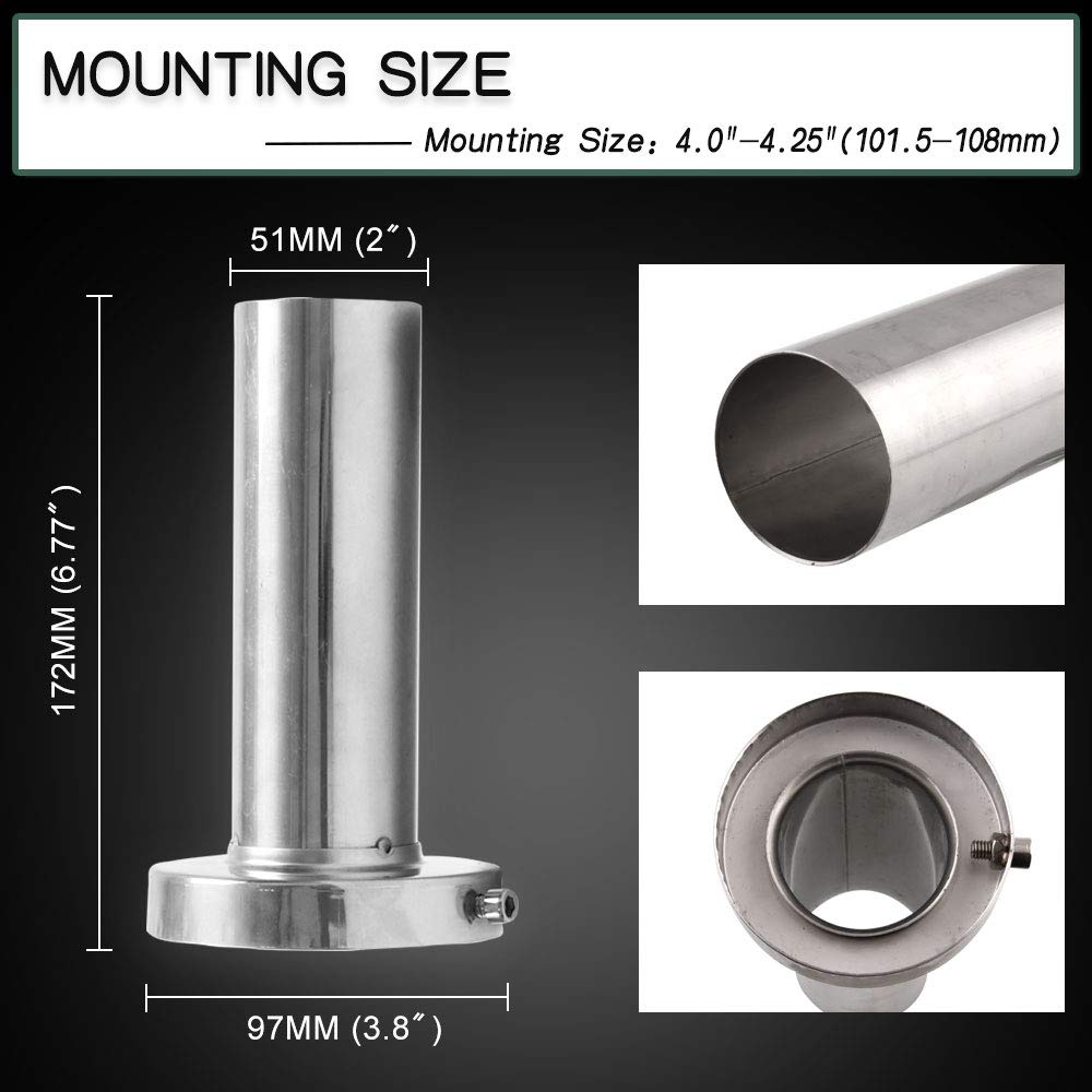 RYANSTAR Exhaust Muffler Round Removable Silencer 3.5 Stainless Steel Fit for Acura Honda Ford