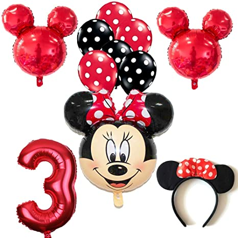 Dog Toys Minnie Mickey Foil Balloons Pink Bowknot Minnie Head Balloons Birthday Party Decorations Baby Shower Supplies Children Gift Toys Cheap Sales