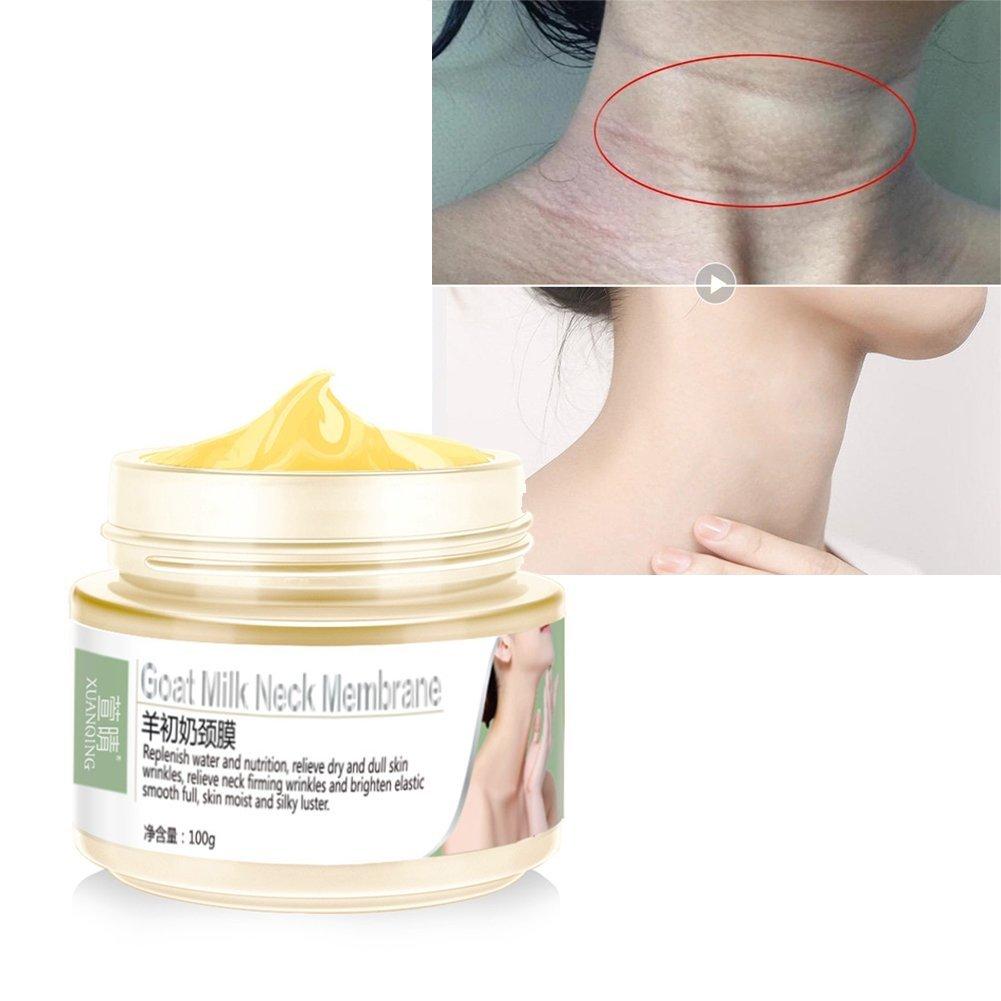 Hals Creme, KISSION Anti Lines & Wrinkles Whitening Feuchtigkeitsspendende Pflege Straffende Hals Pflege Creme Anti Aging Organic Serum ROMANTIC BEAR.
