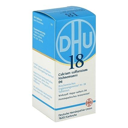 Biochemie DHU 18 Calcio sulfuratum D 6 comprimidos 200 piezas