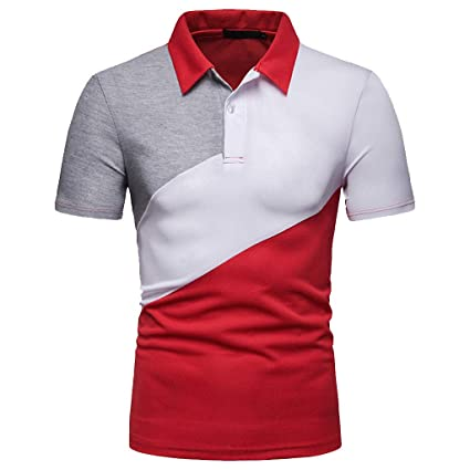 e246694d Image Unavailable. Image not available for. Color: Mens Fashion Polo Shirts  Casual Slim Fit Basic Sport Polo T-Shirts