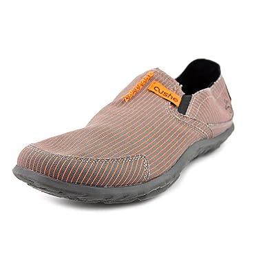 c8c8d222e8abe Cushe Men s Men s Slipper (7 in Grey Orange Pinstripe)