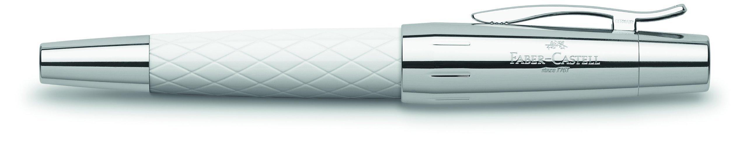 Faber-Castell E-Motion Range Rollerball Rhombus White by Faber-Castell (Image #1)