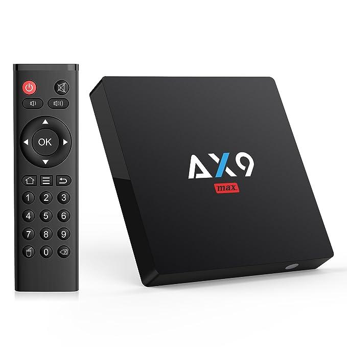 132 opinioni per Bqeel [Android 7.1/2GB/16GB] AX9 MAX Android TV BOX/4K HD/H.265/SPDIF/AV/Amlogic