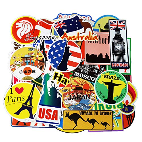 Stickers Tourism Country Regions Waterproof product image