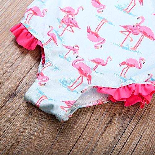 Bambino Ragazzi Ragazze Uccelli Una Spalla Ruffle Una Tuta Costumi Da Bagno Da Bagno Di Un