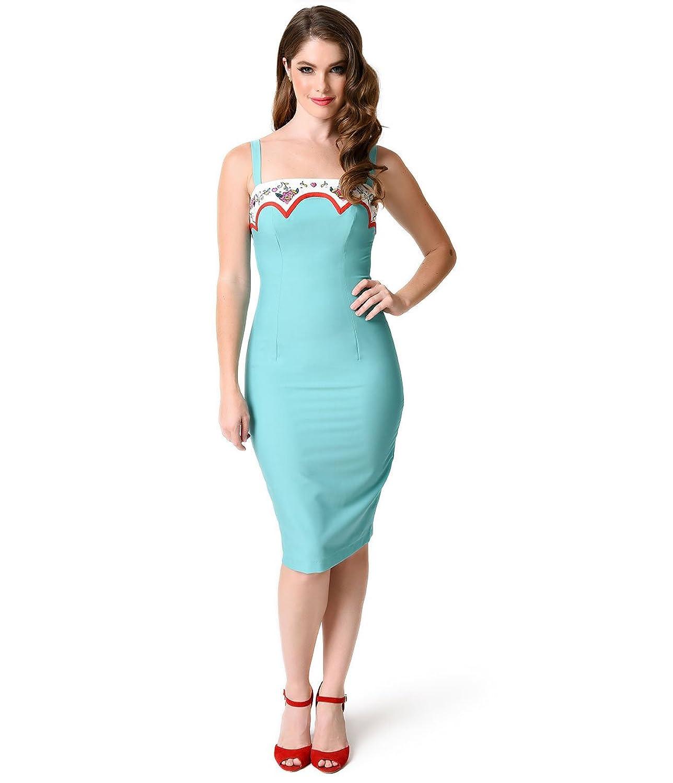 Glamour Bunny 1950s Mint Marylou Stretch Wiggle Dress