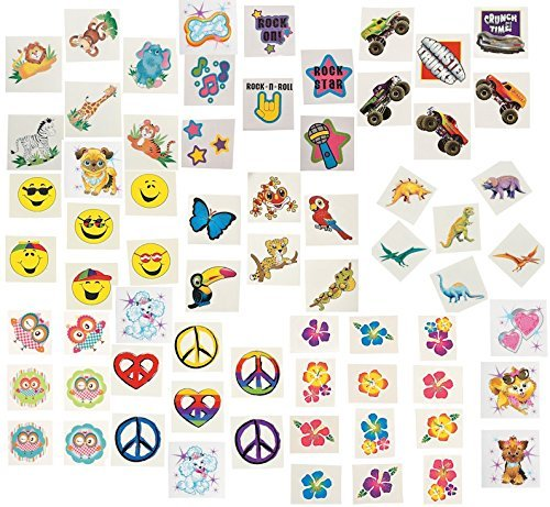 (360 pc Tattoo Assortment Boy's & Girl's Party)