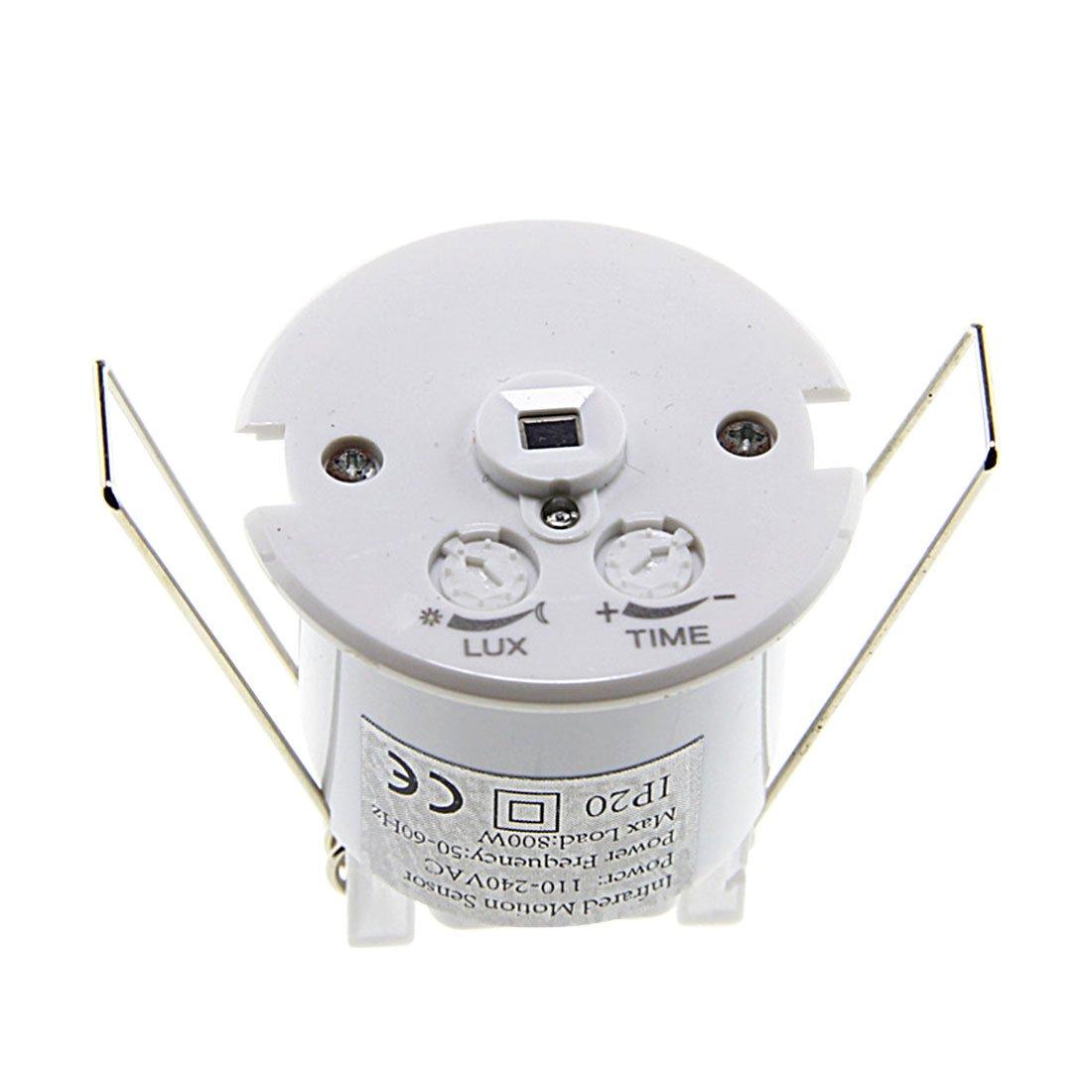 VHLL Mini Adjustable 110-240V AC 360 Degree Ceiling Infrared Body Motion Sensor Detector Lamp Light Switch White NEW