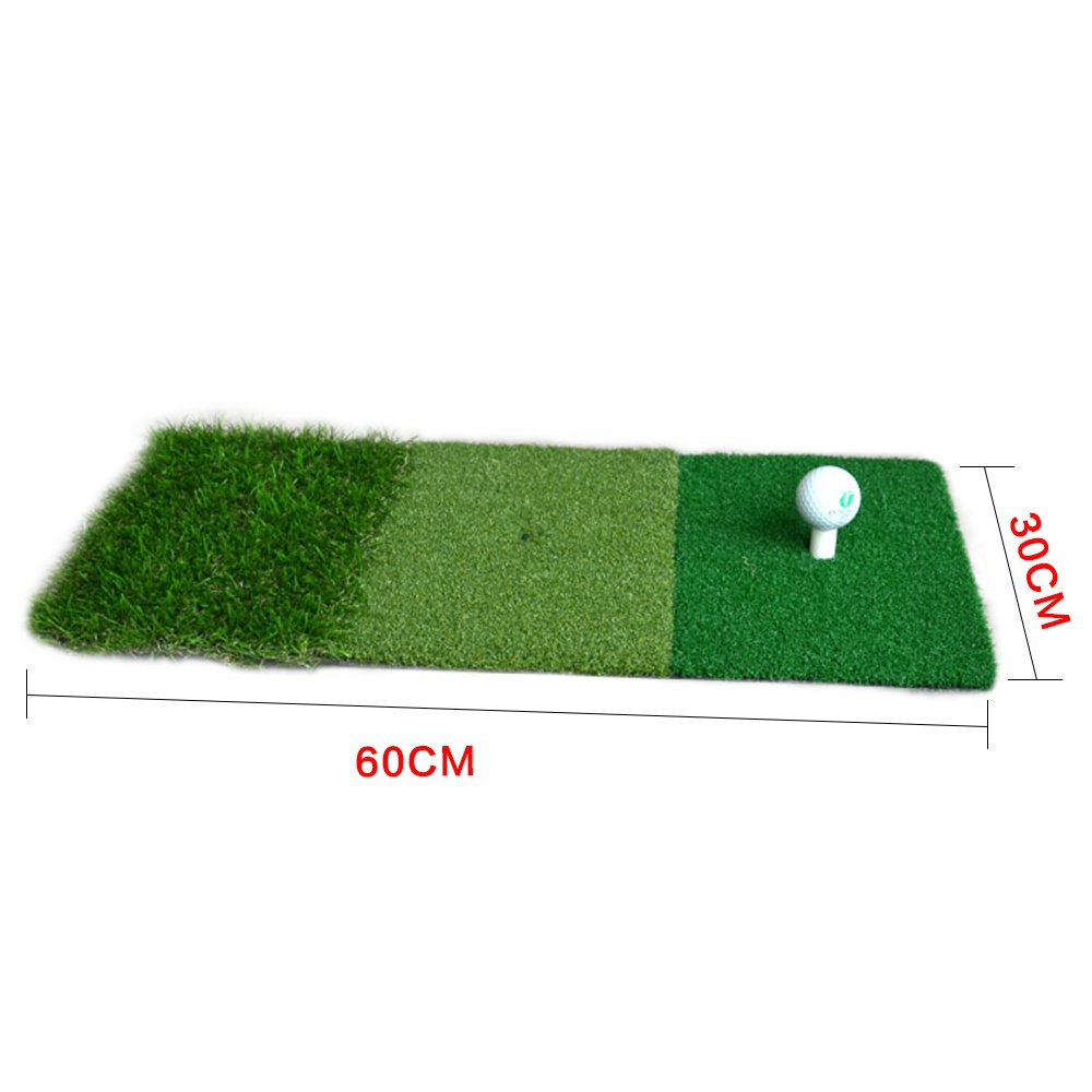 PLAYEAGLE 12''x24'' Mini Golf Hitting Mat Indoor Outdoor Backyard Practice Golf Mat Protable Golf Training Aids