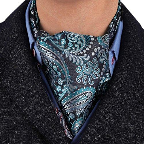 Epoint ERA7B02C Series Gift Idea Silk Mens Ascot Checkered For Wedding Cravat Discount For ()