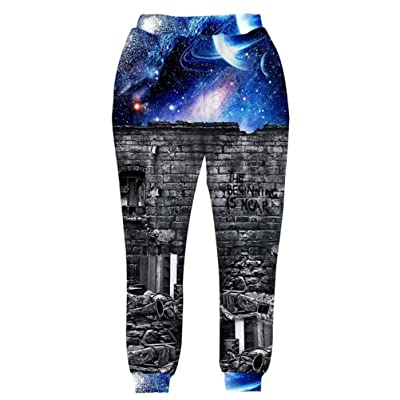 3D Galaxy Joggers Pants Mens Beautiful Space Cartoon Sweatpants Graphic Print Casual Loose Trousers Cool Design