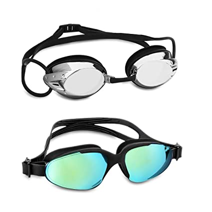 7caf4634cc7 Amazon.com   VETOKY Swim Goggles for Adult 2 Pack   Sports   Outdoors