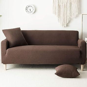 SANDM Felpa Color sólido Funda de sofá con Fundas, Funda de ...