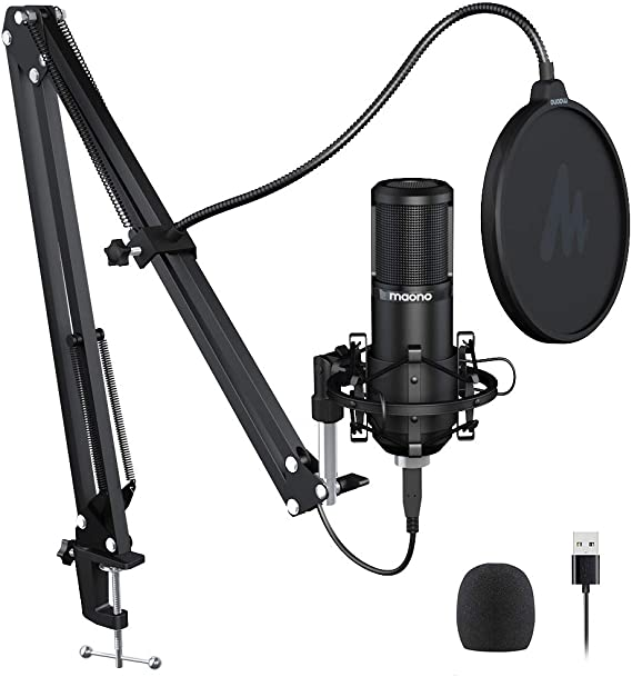 Podcast Microphone 192KHZ/24BIT MAONO PM420 USB Condenser Cardioid PC Mic with Professional Sound Chipset for Gaming